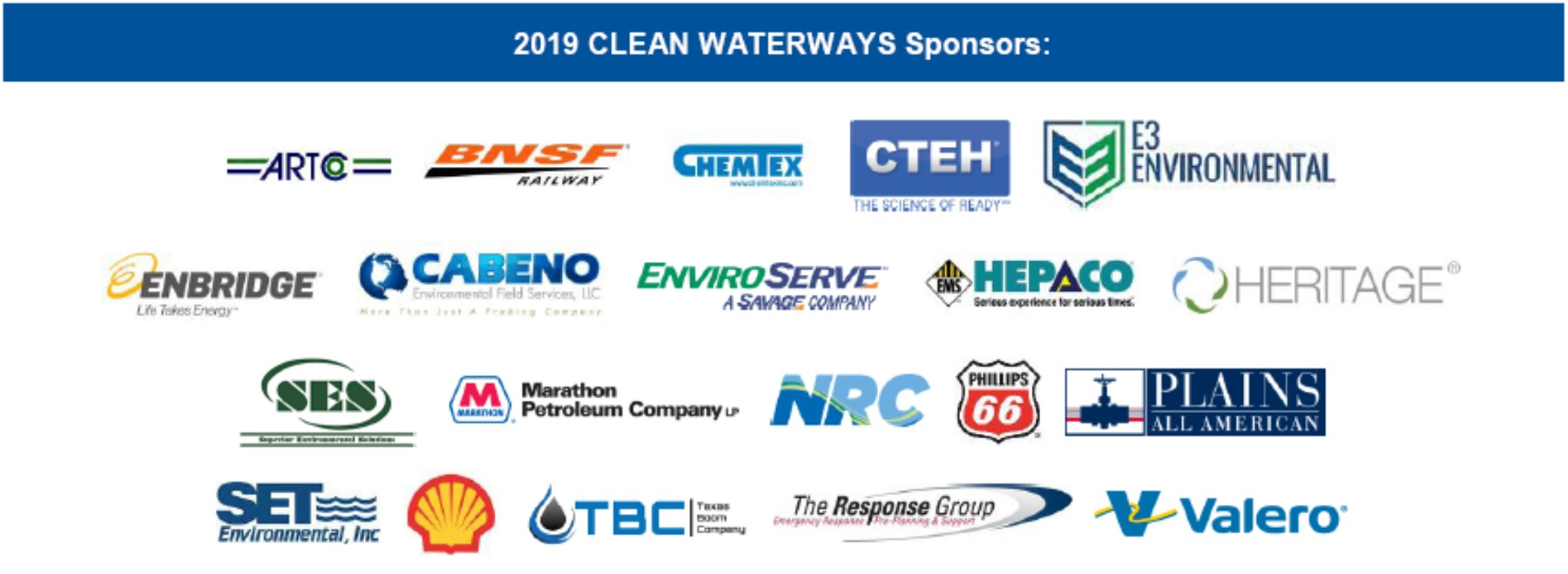 2019 Clean Waterways Corporate Sponsors