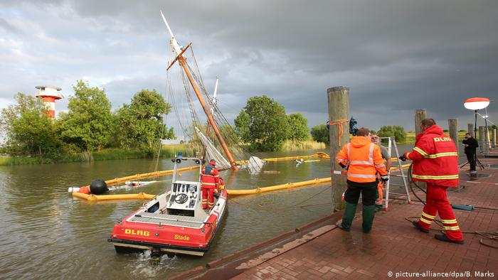 German Sailboat Sank Elbe
