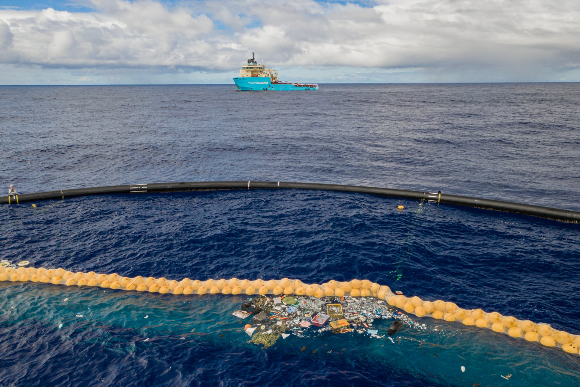 Ocean Cleanup Trash Collection Boom