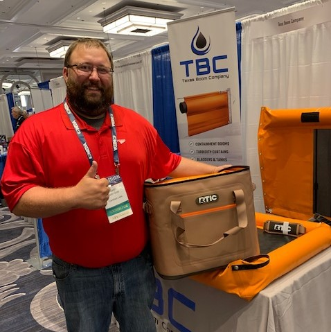 WEDA Dredging Expo 2019 Cooler Drawing Winner Seth Gintz 2