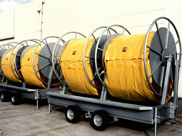 Oil Spill Containment Boom Reels